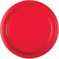 Ravishing Red Deep Paper Plates, 11.5in, 10ct
