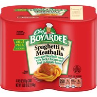(2 pack) Chef Boyardee Spaghetti and Meatballs, 14.5 oz, 4 Pack