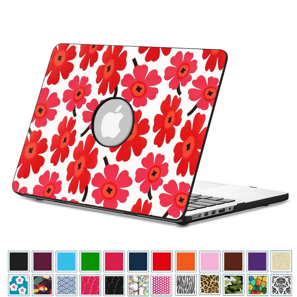 "Fintie Apple MacBook Pro 15.4"" Retina (A1398) Case- Premium PU Leather Coated Hard Shell Cover, Poppy"