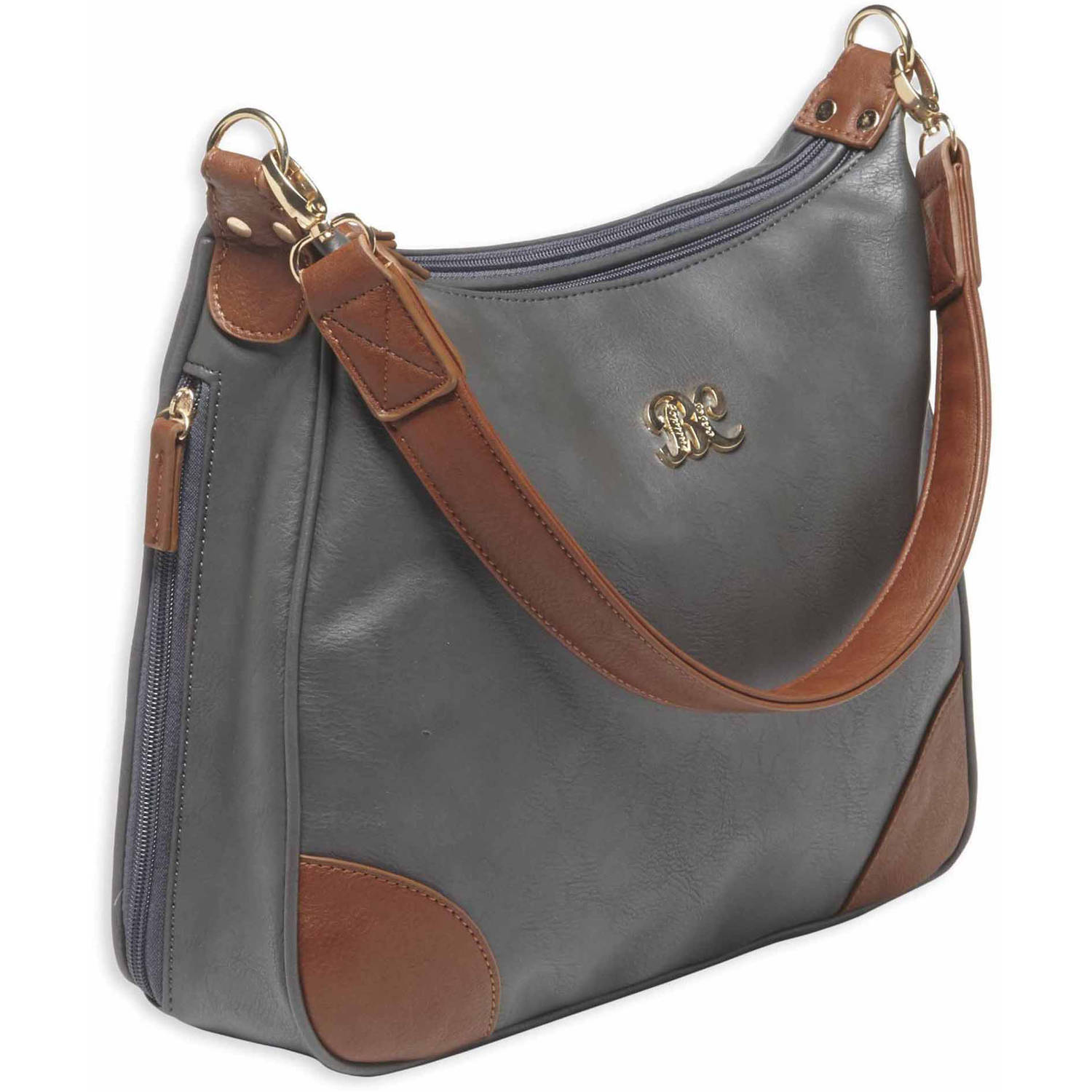 Bulldog Cases Hobo Style Purse with Holster, Grey/Tan