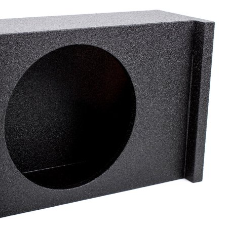 Q Power 2 Hole 10 Inch Vented Subwoofer Enclosure Sub Box for SUV (2