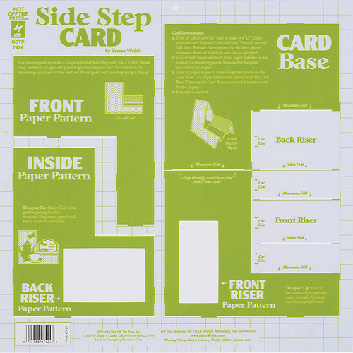 Hot Off The Press Side-Step Swing Card Template 123975