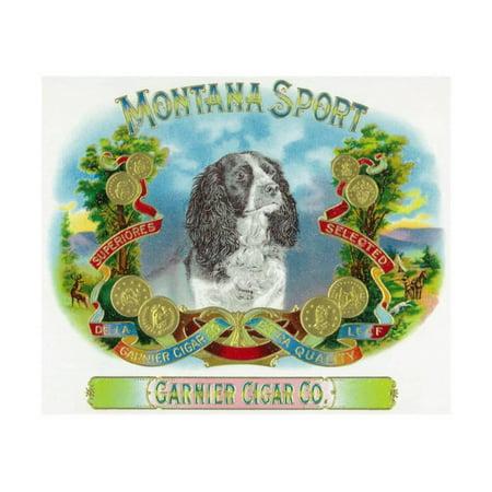 Cigar Press (Montana Sport Brand Cigar Box Label Print Wall Art By Lantern Press )