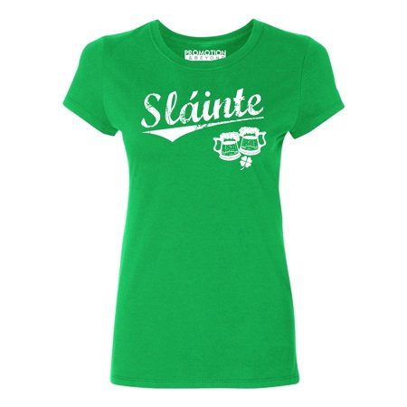 P&B ST PATRICKS DAY SLAINTE Women's T-shirt, 2XL, Green - Walmart St Patricks Day Shirts