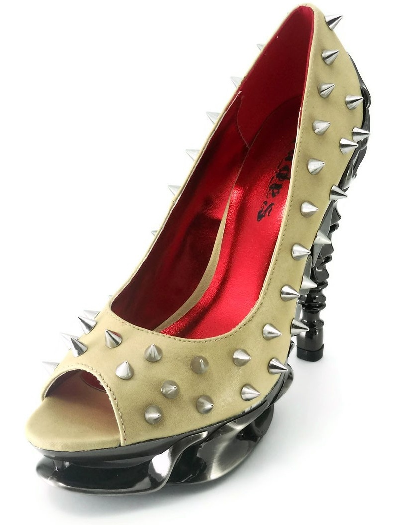 Women's Peep-toe TALON Thundra Leather Spiked Peep-toe Women's Pumps 924be9