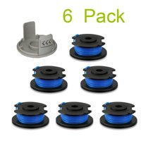 Juslike String Trimmer Replacement Spool Line 0.065'' for Ryobi One+ 18V, 24V, and 40V Cordless Trimmers(6 Spools + 1 Caps)