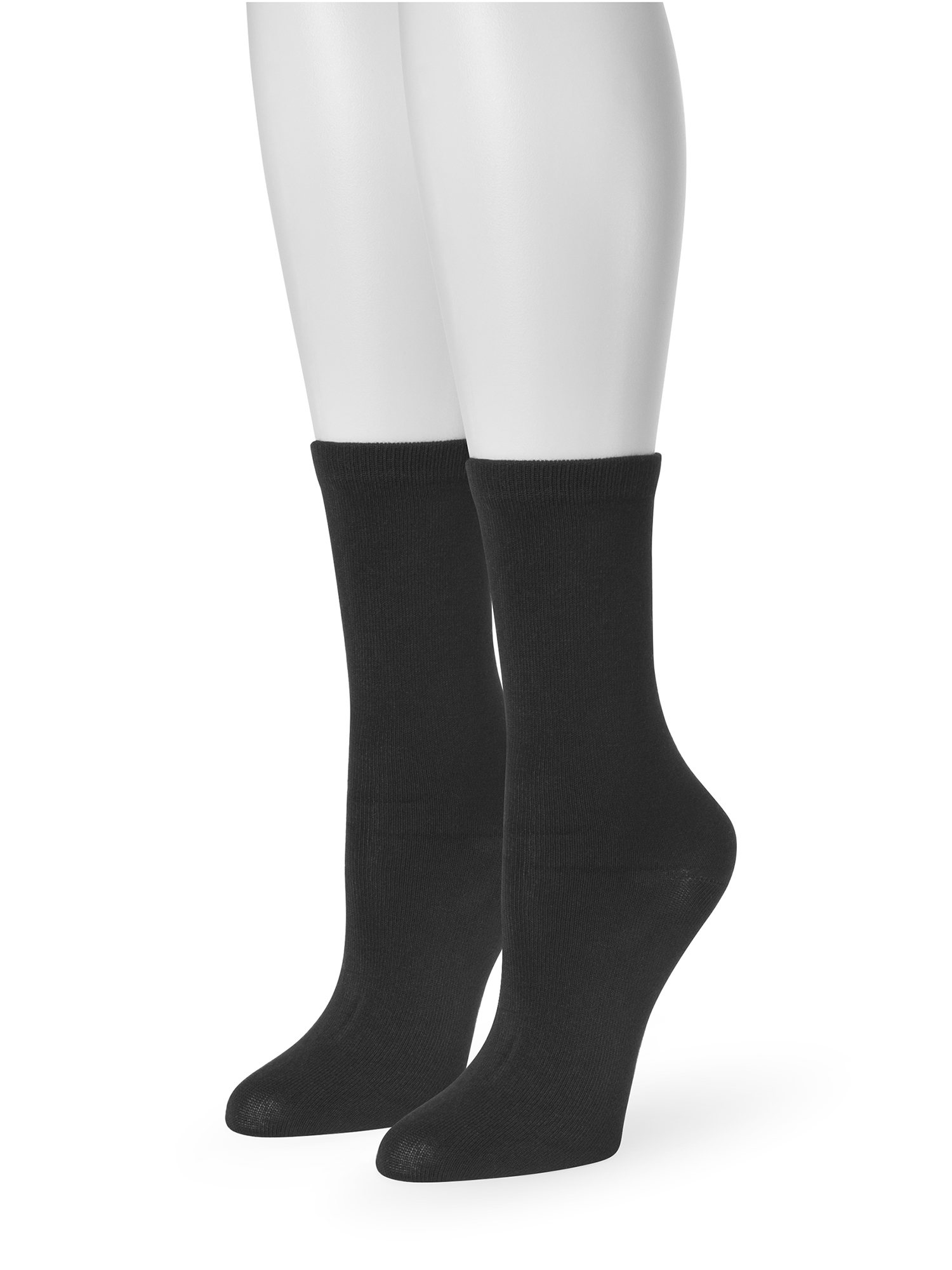 Women's Fine Gauge Crew Length 8 Sock 2-Pack