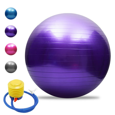 Anti-burst Yoga Ball Thickened Stability Balance Ball Pilates Barre Physical Fitness Exercise Ball 45CM / 55CM / 65CM / 75CM Gift Air Pump
