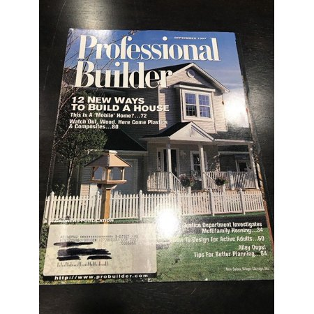 Professional Builders September 1997 Magazine-RARE VINTAGE COLLECTIBLE-SHIP (Rare Vintage Magazine)