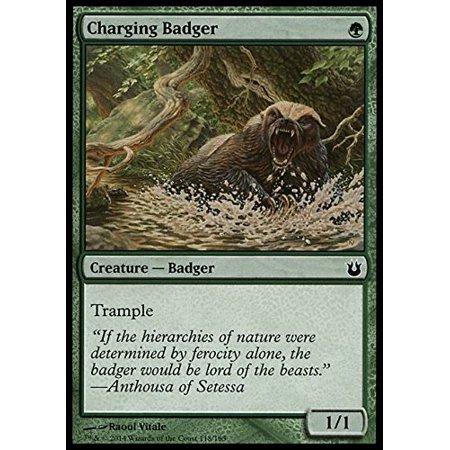 Magic The Gathering Charging Badger 118165 Born Of The Gods