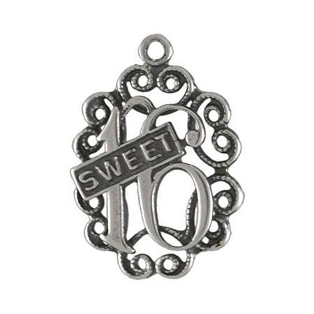 Sterling Silver Sweet 16 Birthday Charm Item #14759