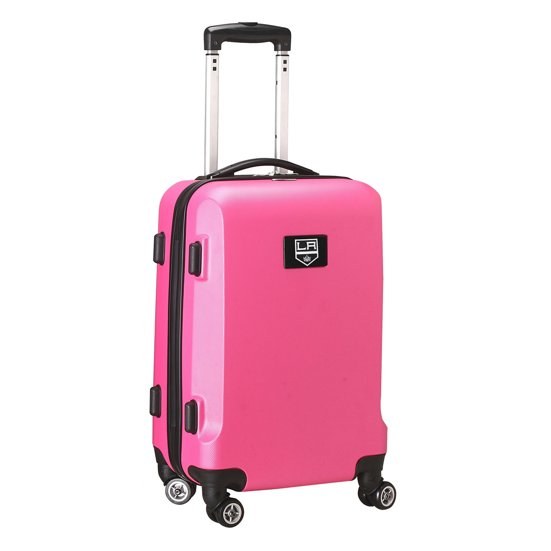 """Los Angeles Kings 20"""" 8-Wheel Hardcase Spinner Carry-On - Pink"""