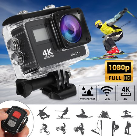 4K Touchscreen Action Camera WiFi Dual Screen Ultra HD 30M Waterproof DV Sports