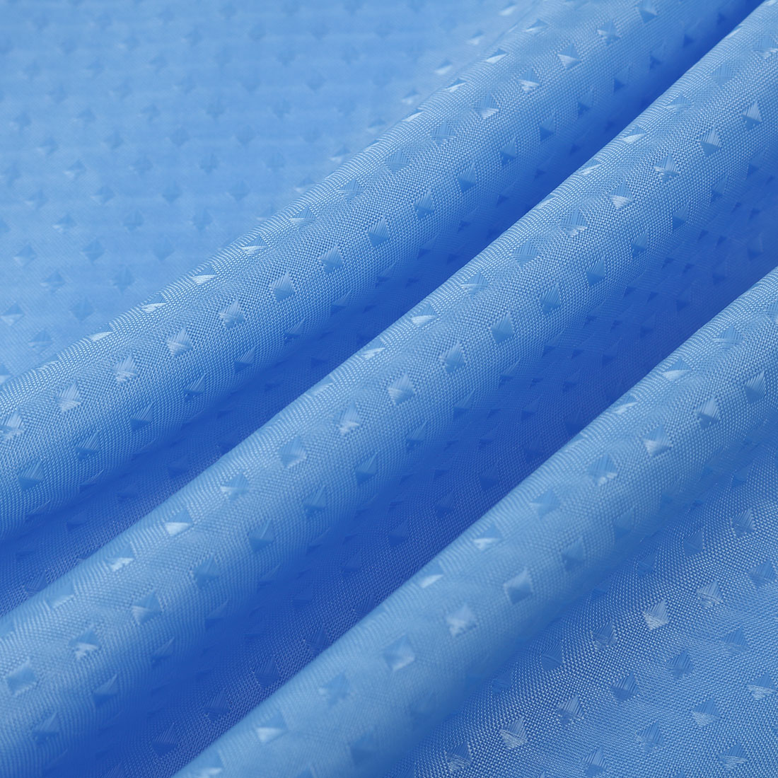 Polyester Bathroom Shower Curtains With Hook Rings Blue 72