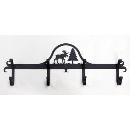 Village Wrought Iron Cb 22 Wall Mounted Coat Rack Hooks Moose