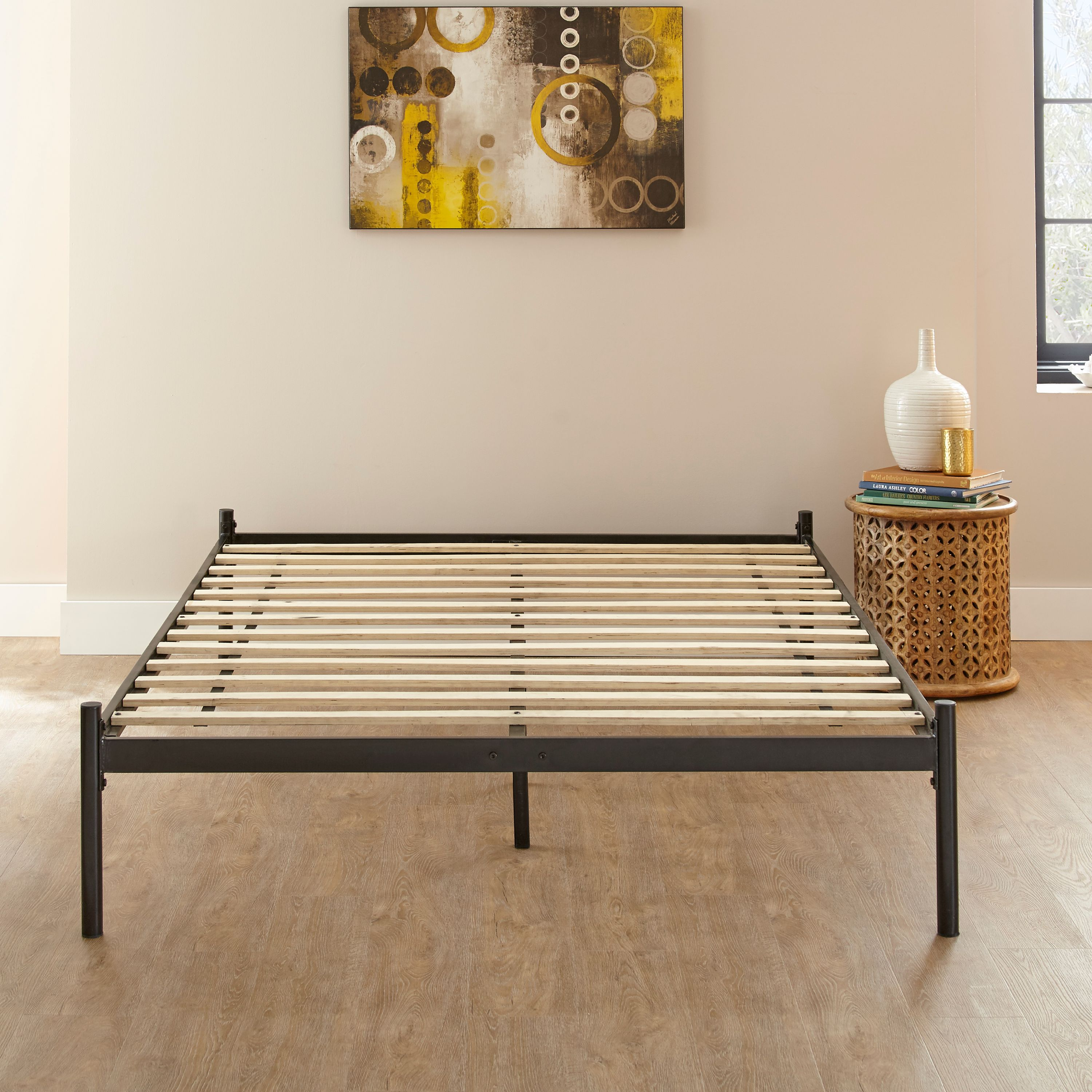 Premier Urban Loft Black Metal Platform Base Foundation Bed Frame, Multiple Sizes