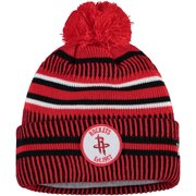 Houston Rockets New Era Team Sport Cuffed Knit Hat with Pom - Red - OSFA