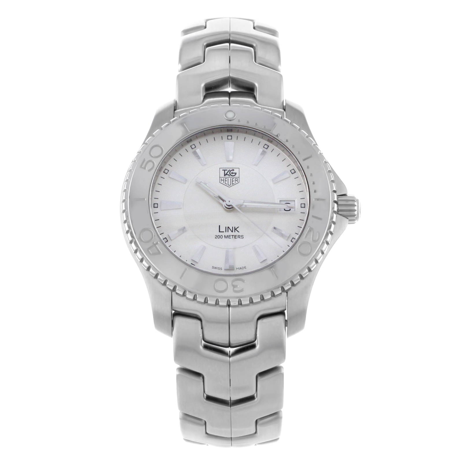 Certified Pre-owned TAG Heuer Link WJ1111.BA0570 Stainles...