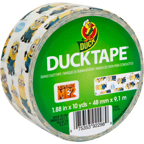 "Duck Brand Duct Tape, 1.88"" x 10 yard, Despicable Me"