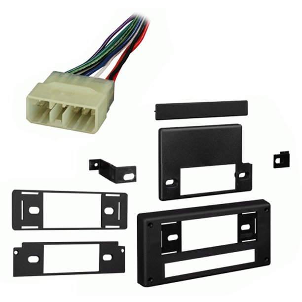 fits subaru gl/dl/rx 85-89 single din stereo harness radio install dash kit  - walmart.com - walmart.com  walmart.com