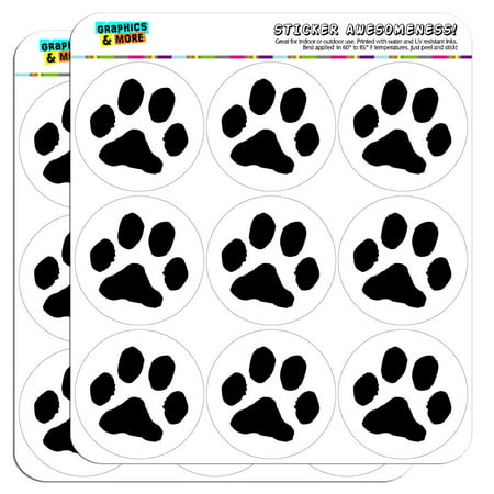 Paw print pet dog cat 2 scrapbooking crafting stickers
