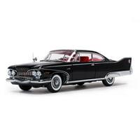 1960 Plymouth Fury Hard Top Jet Black Platinum Edition 1/18 Diecast Model Car by Sunstar