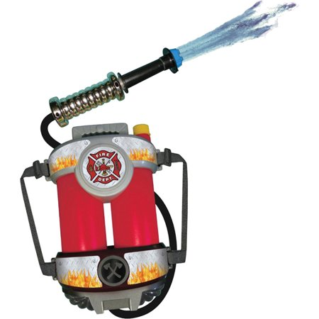 Morris Costumes Fire Power Super Soaking Fire Hose With Back Pack Shoots water over 35 feet with one pump of the hose Soaker, Style ARFPWR](Costume Feet)