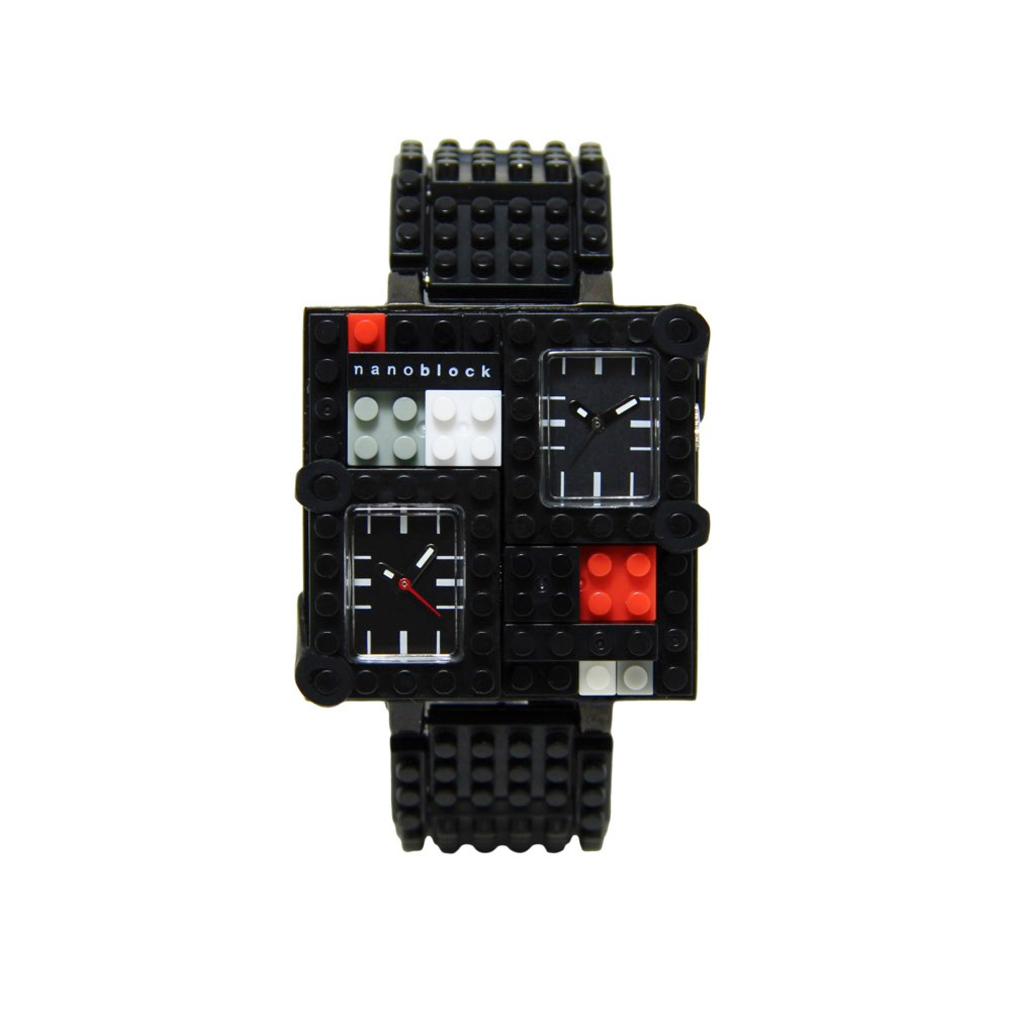 Nanoblocktime Traveler Metal Watch, Black by Beta Enteprises Inc.