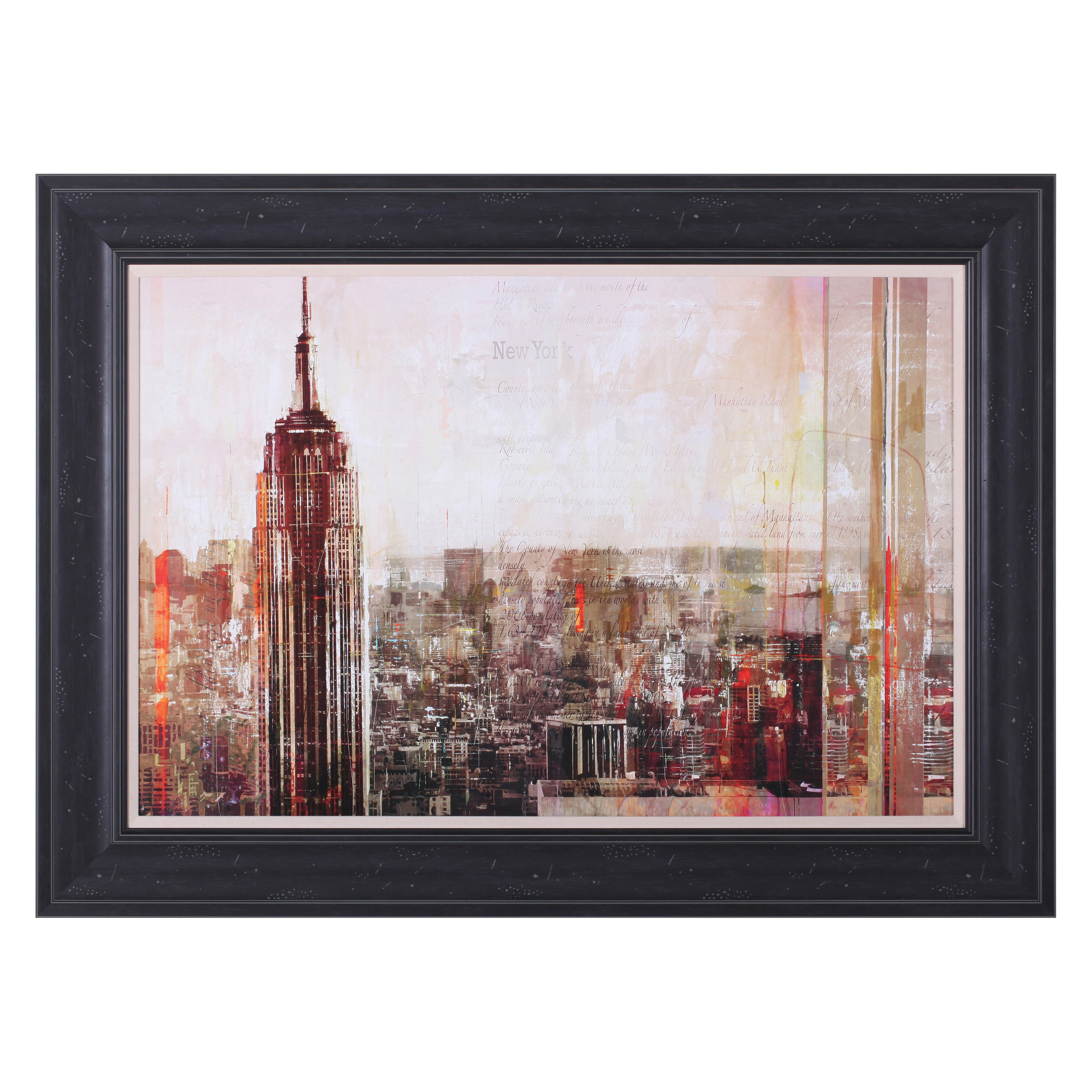 Art Effects Shades of New York Framed Wall Artwork by Art Effects