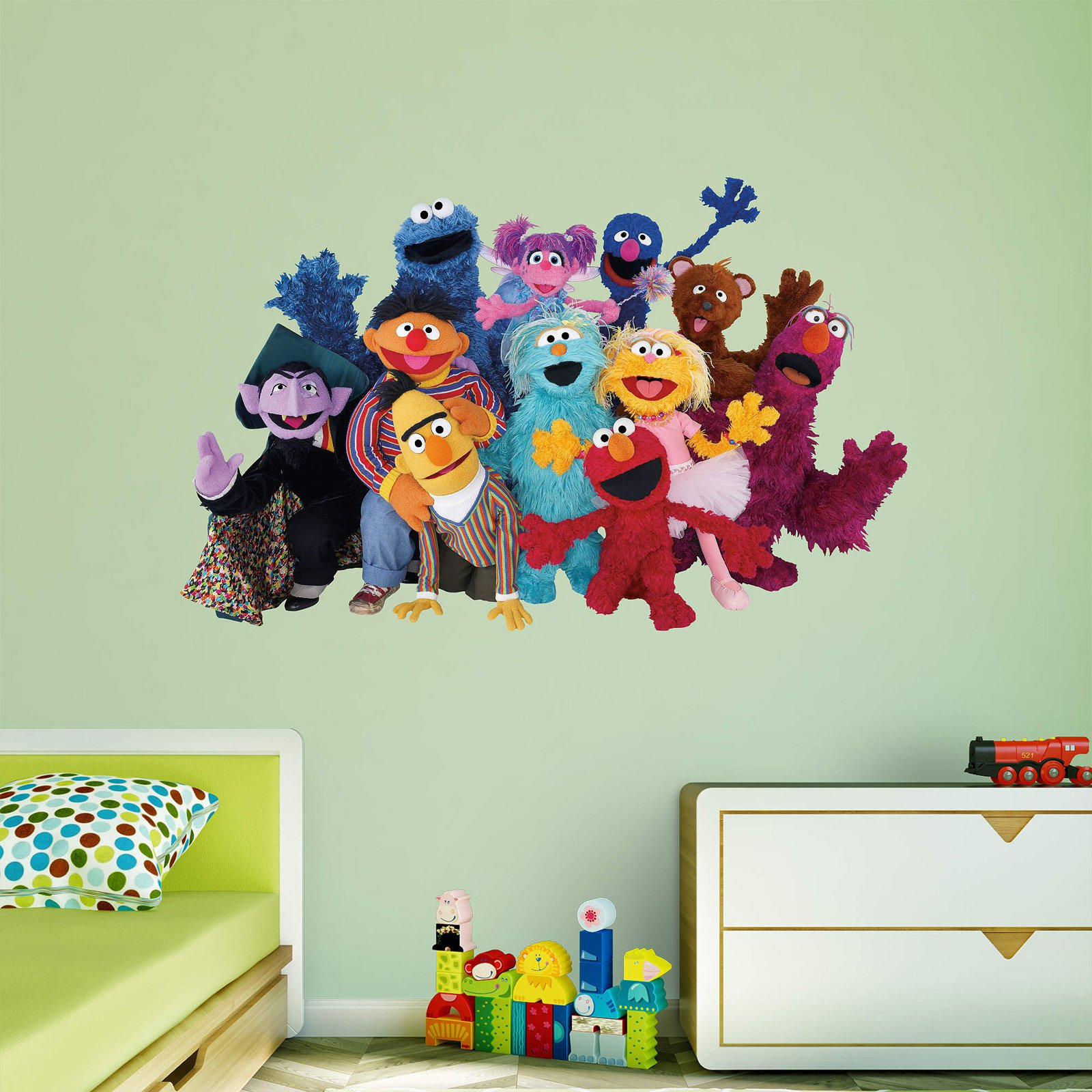 Fathead Sesame Street Group Wall Decal