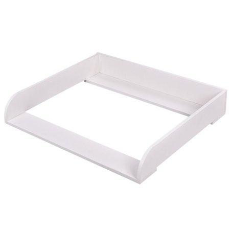 costway 35 39 39 changing table top dresser infant baby nursery diaper station kit white. Black Bedroom Furniture Sets. Home Design Ideas