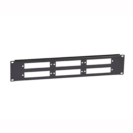 Blank Fibre Optic Panel - 2U 6 -