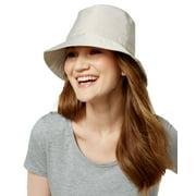 Nine West Women's Nylon Bucket Rain Hat (Tan, One Size)