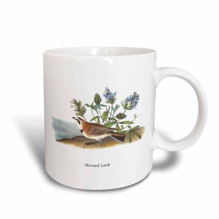 3dRose Horned Lark by John James Audubon, Ceramic Mug, 11-ounce