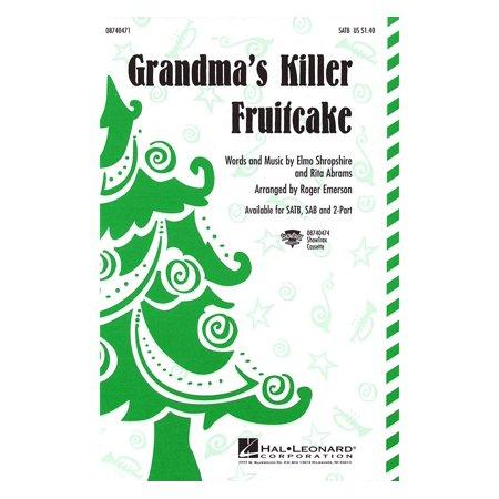Holiday Fruitcake - Hal Leonard Grandma's Killer Fruitcake SATB arranged by Roger Emerson