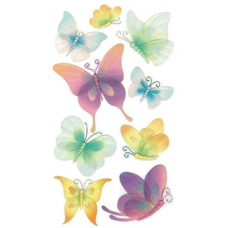 Jolees Boutique Sticker 3D Vellum Butterflies