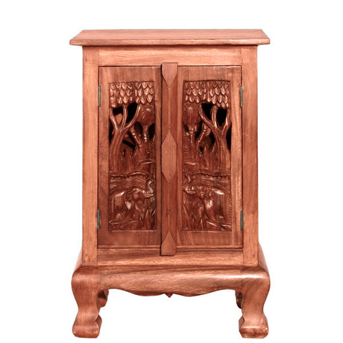 EXP D cor Handmade 24'' Royal Elephants Storage Accent Cabinet