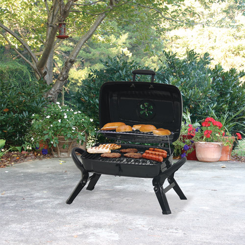 Uniflame 184 sq. inch Portable Charcoal Grill, Black