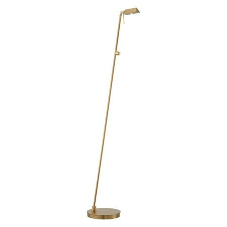 Pharmacy Mounted Task Lamp - George Kovacs Task Portables 1-Light Pharmacy Floor Lamp - 49.75H in. Honey Gold