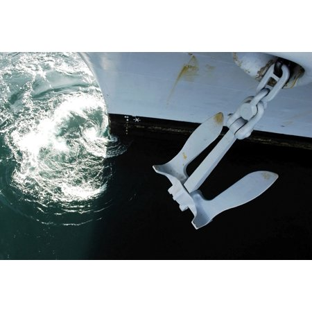 2 Side Port (The port side Mark II Stockless Anchor is raised aboard aircraft carrier USS Abraham Lincoln Poster)