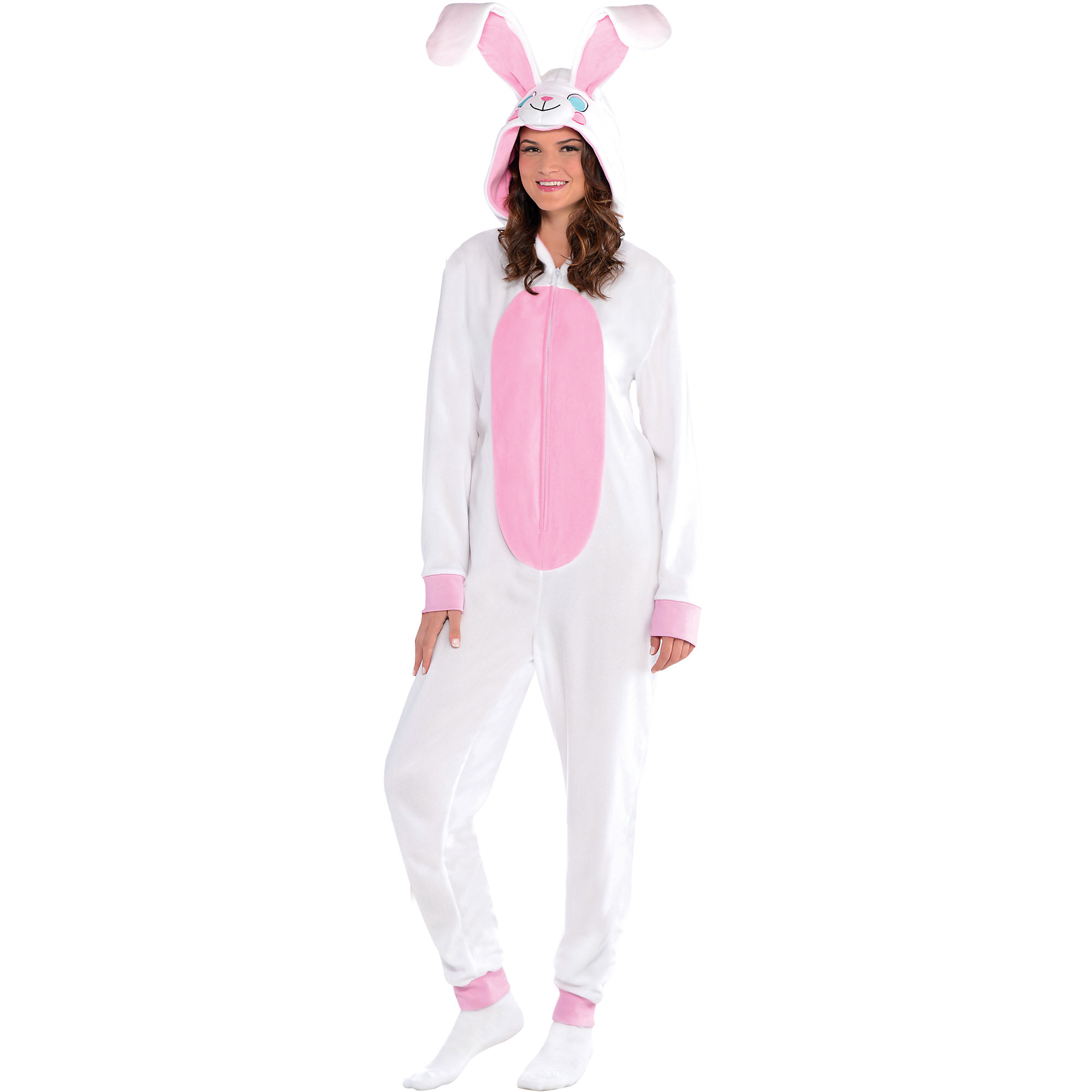 one-piece garment Rabbit pajamas white Easter Bunny costume for kids small-1pcs