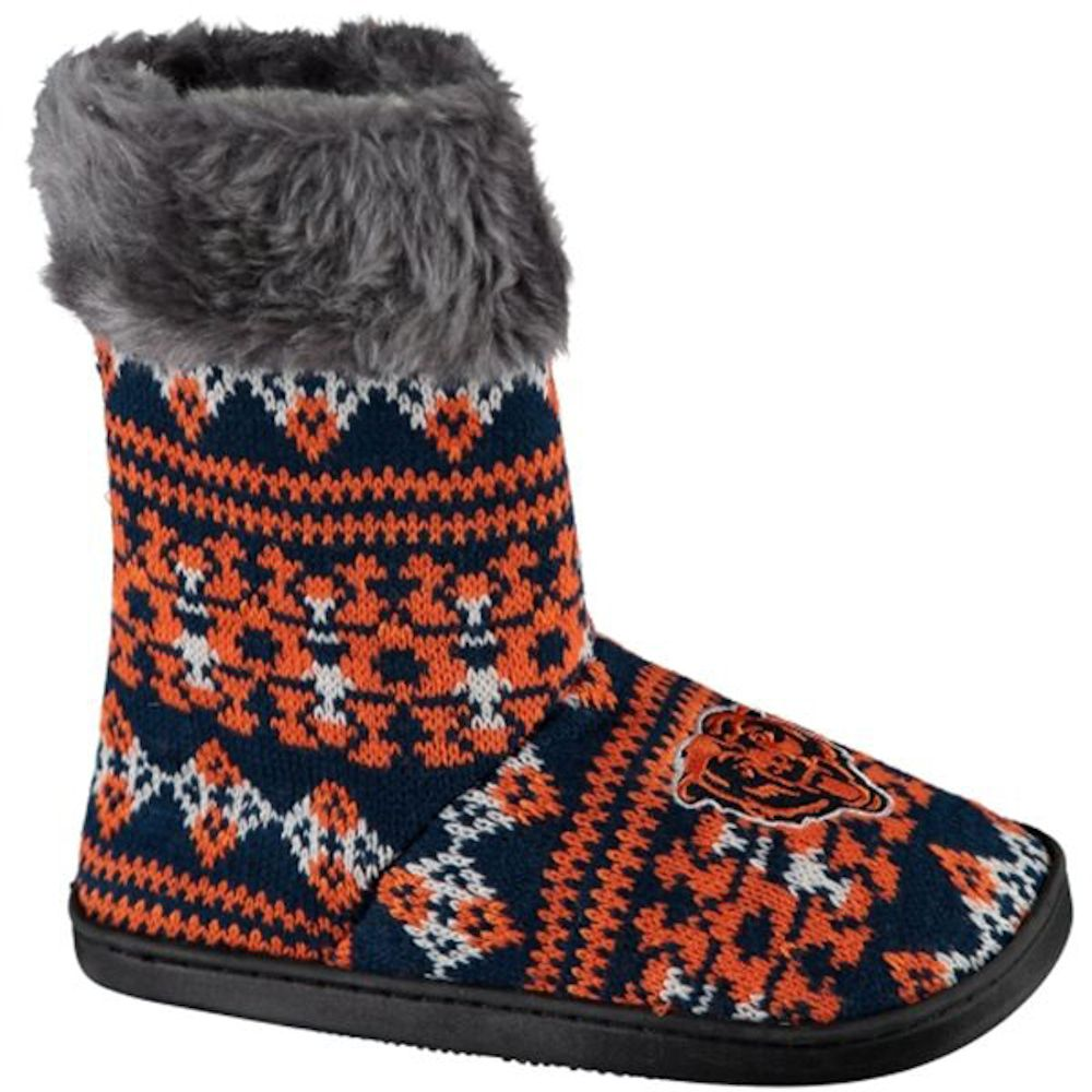 Chicago Bears Women's Aztec Boot Slippers by Forever Collectibles