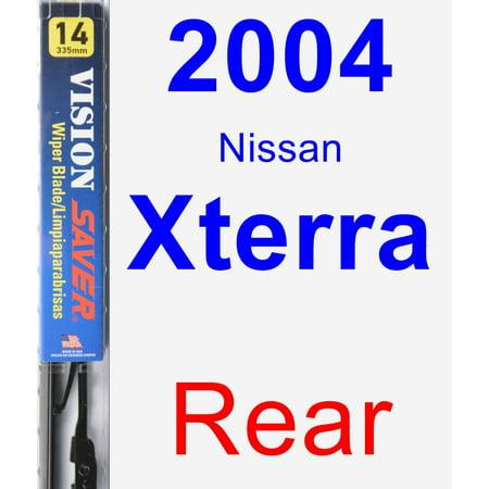 2004 Nissan Xterra Rear Wiper Blade - Vision Saver