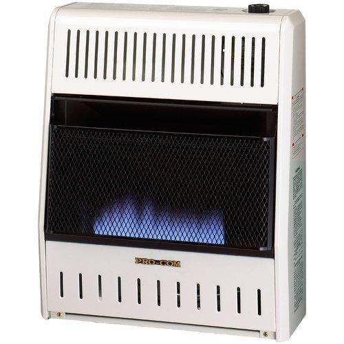 ProCom Dual Fuel Ventless Flame 20,000 BTU Natural Gas/Propane Wall Mounted Heater