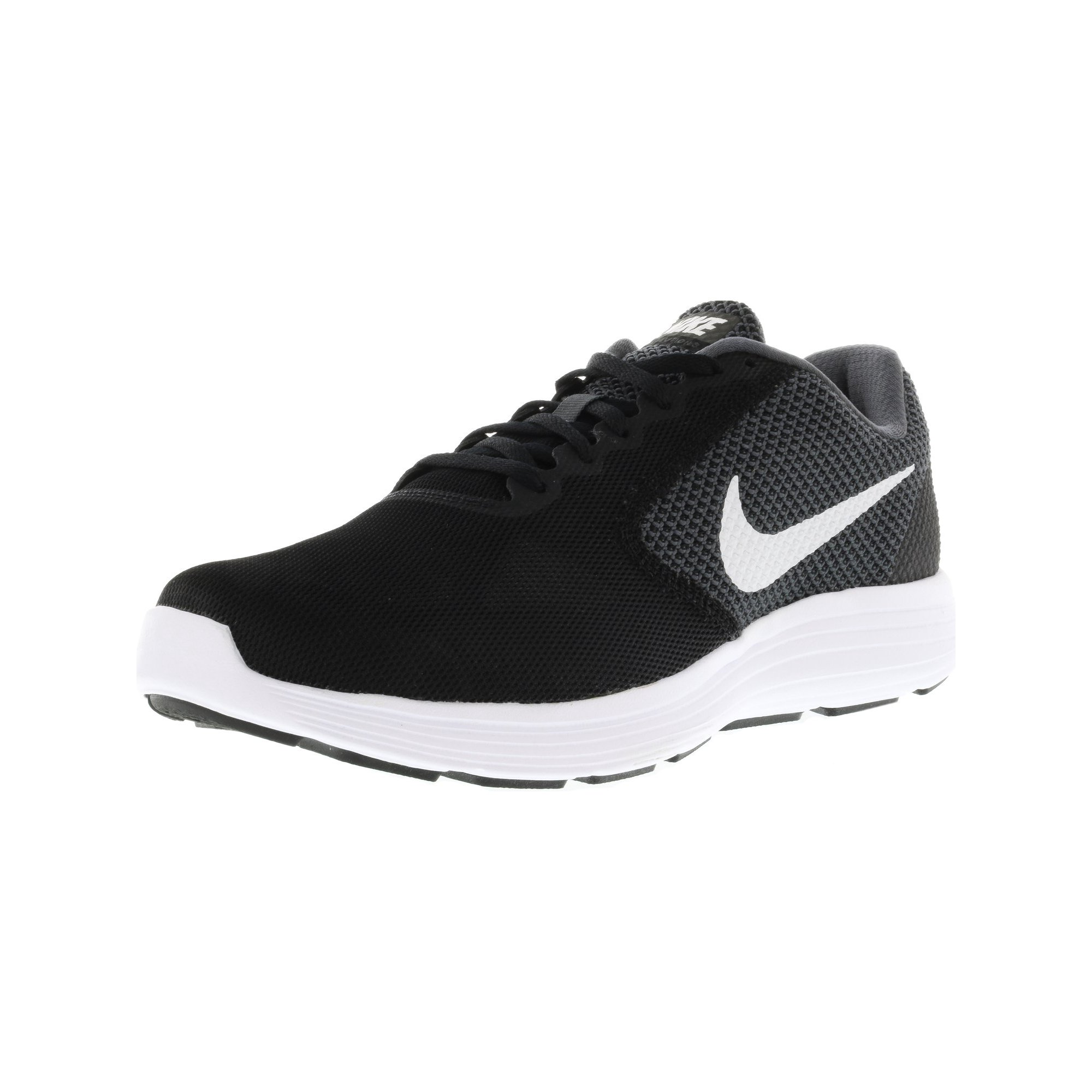 low priced c19b9 fd5cc Nike Men s Revolution 3 Dark Grey   White-Black Ankle-High Running Shoe -  9W   Walmart Canada
