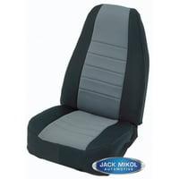 Smittybilt Seat Covers Rear Neoprene Black Sides with Charcoal Center Jeep 80 95 CJ & Wrangler YJ 47322 S/B47322