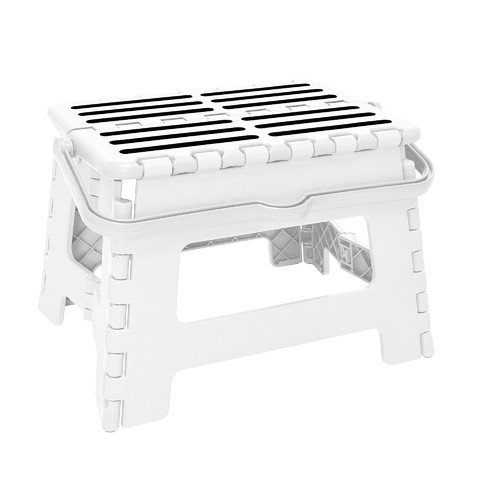 Simplify Striped Folding Step Stool With Handle Best