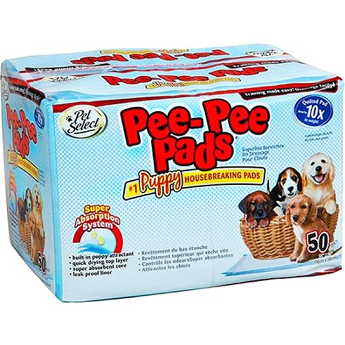 Pet Select Pee-Pee Housebreaking Pads, 50 pk