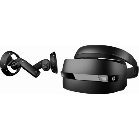 HP VR Bundle- Windows Mixed Reality Headset and Controllers - Black (2018  Edition)