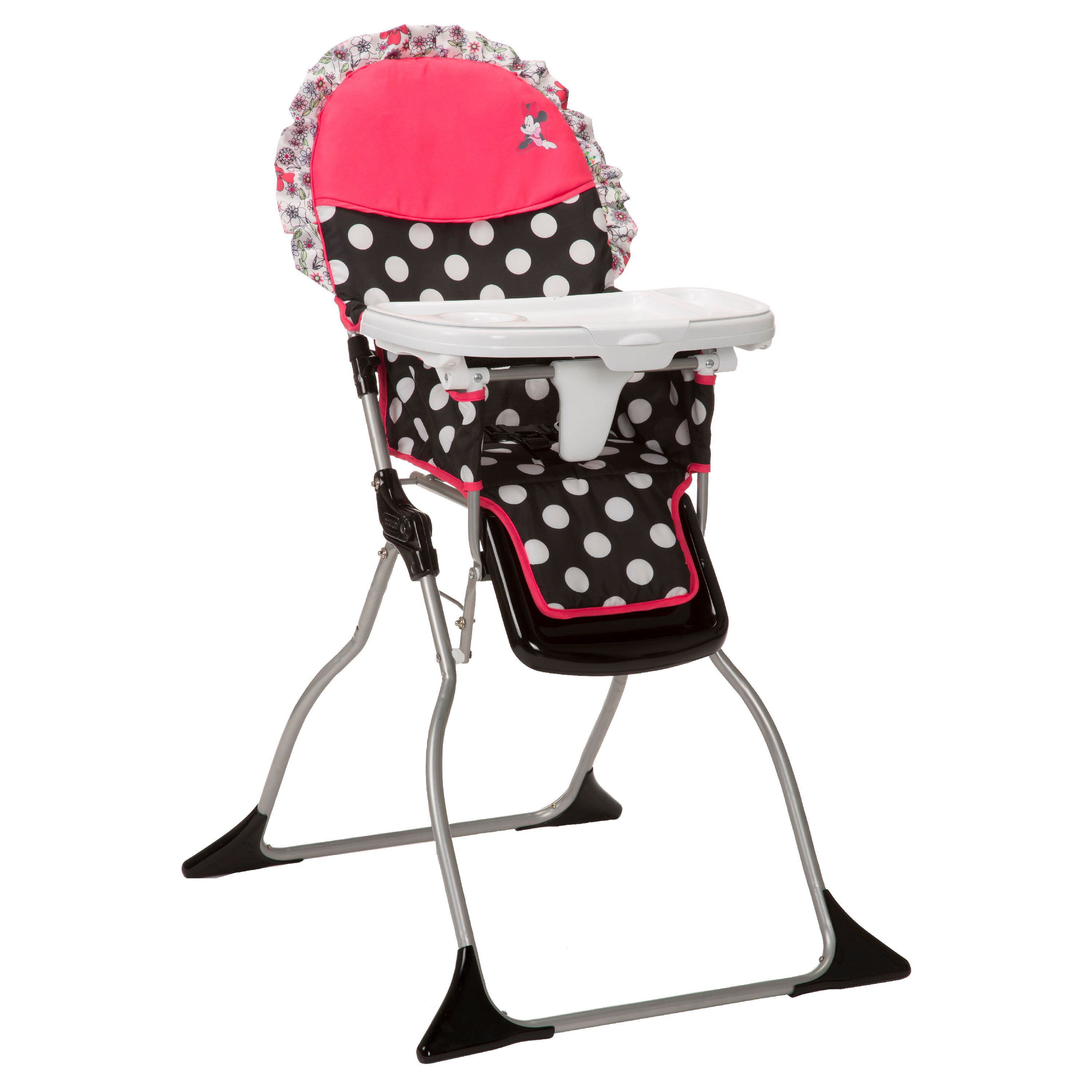 Disney Baby Simple Fold Plus High Chair, Minnie Coral Flowers   Walmart.com